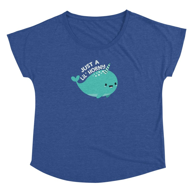 Just A Lil' Horny Women's Dolman Scoop Neck by FunUsual Suspects T-shirt Shop