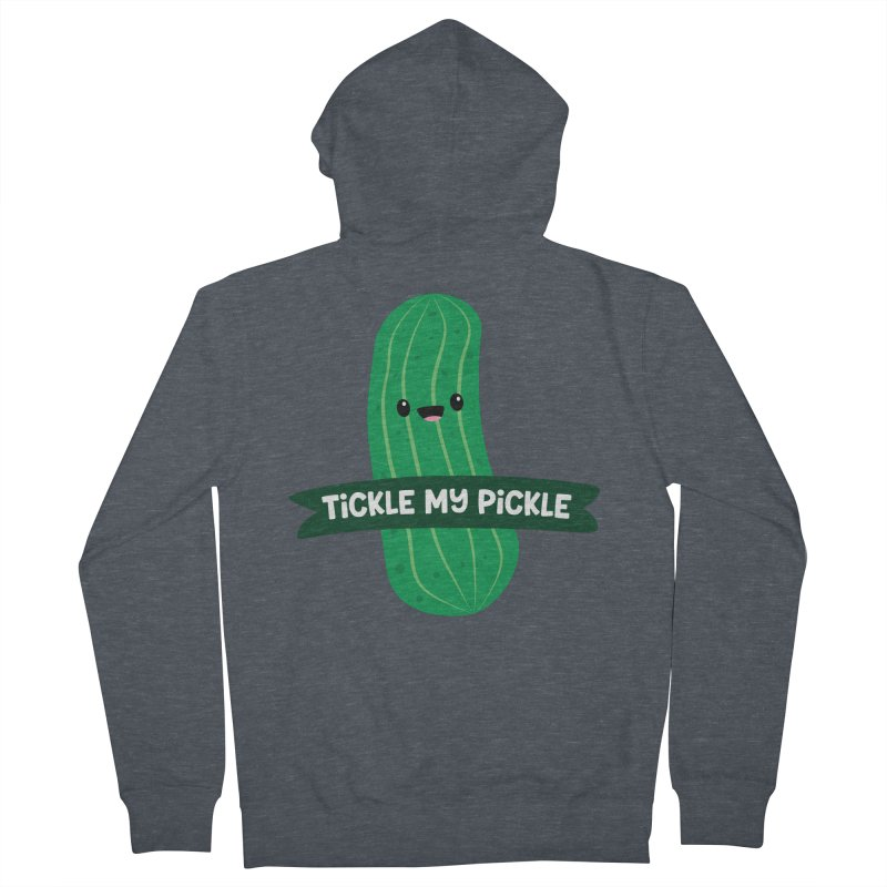 Tickle My Pickle Men's French Terry Zip-Up Hoody by FunUsual Suspects T-shirt Shop