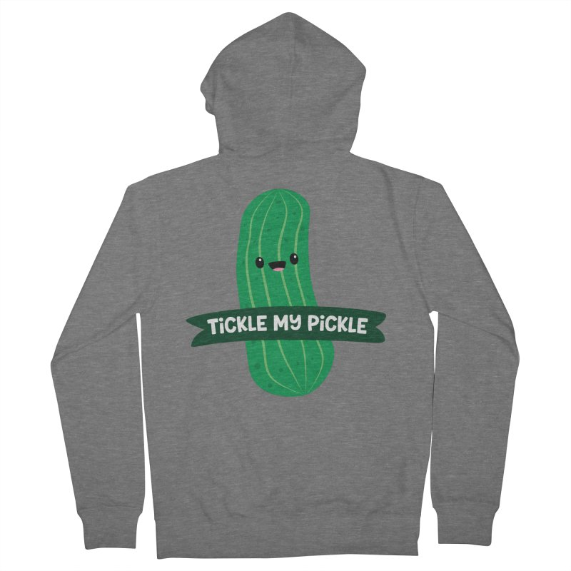 Tickle My Pickle Men's Zip-Up Hoody by FunUsual Suspects T-shirt Shop