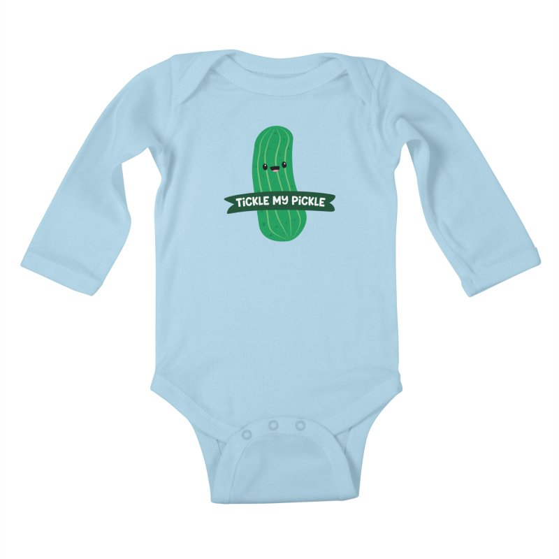Tickle My Pickle Kids Baby Longsleeve Bodysuit by FunUsual Suspects T-shirt Shop