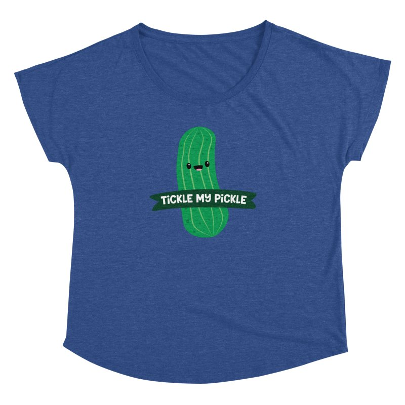 Tickle My Pickle Women's Dolman Scoop Neck by FunUsual Suspects T-shirt Shop
