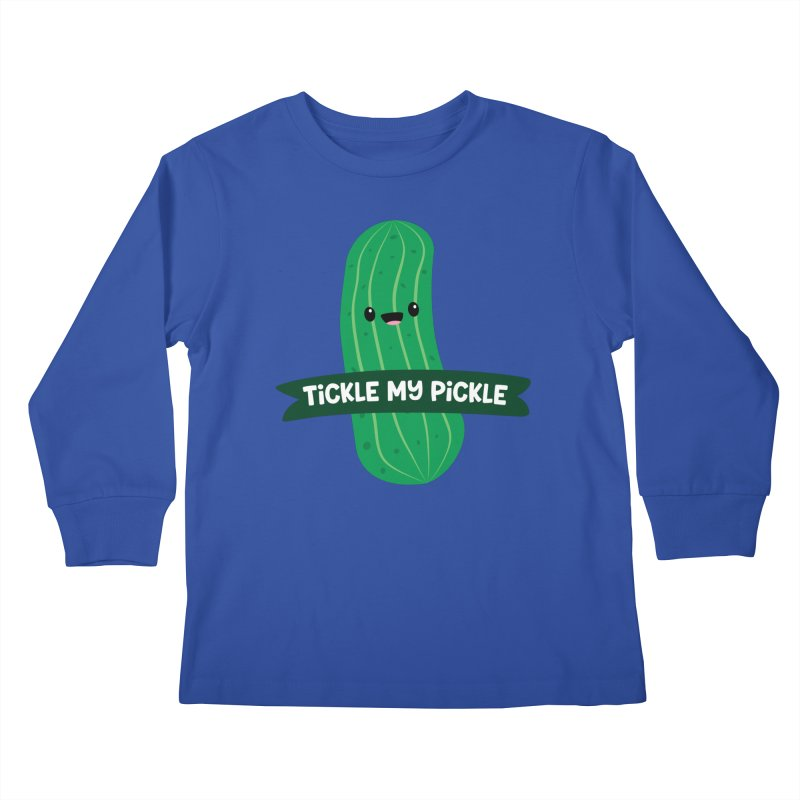 Tickle My Pickle Kids Longsleeve T-Shirt by FunUsual Suspects T-shirt Shop