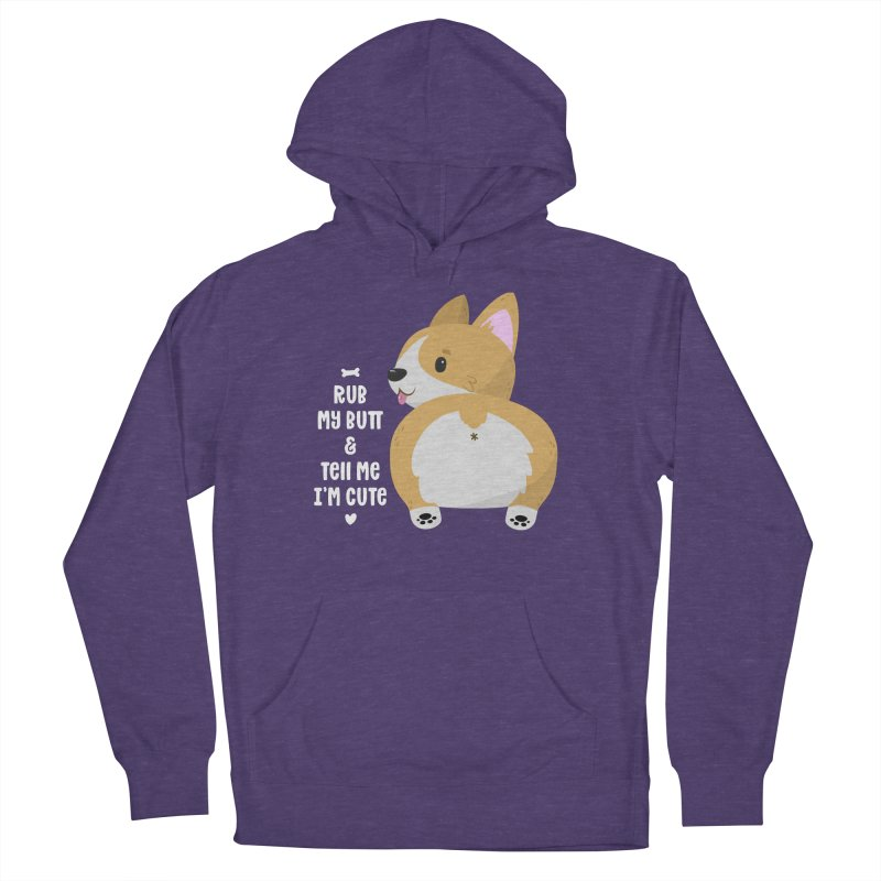 Rub My Butt Men's French Terry Pullover Hoody by FunUsual Suspects T-shirt Shop
