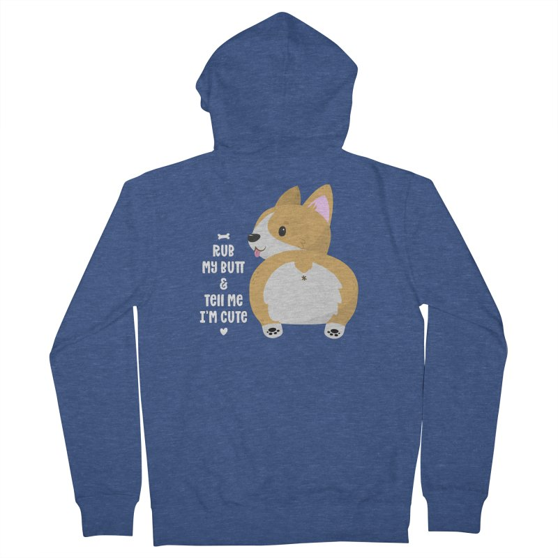 Rub My Butt Women's Zip-Up Hoody by FunUsual Suspects T-shirt Shop