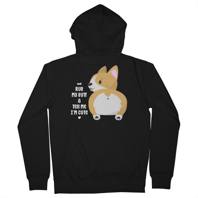 Rub My Butt Women's French Terry Zip-Up Hoody by FunUsual Suspects T-shirt Shop