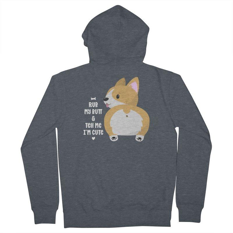 Rub My Butt Men's Zip-Up Hoody by FunUsual Suspects T-shirt Shop