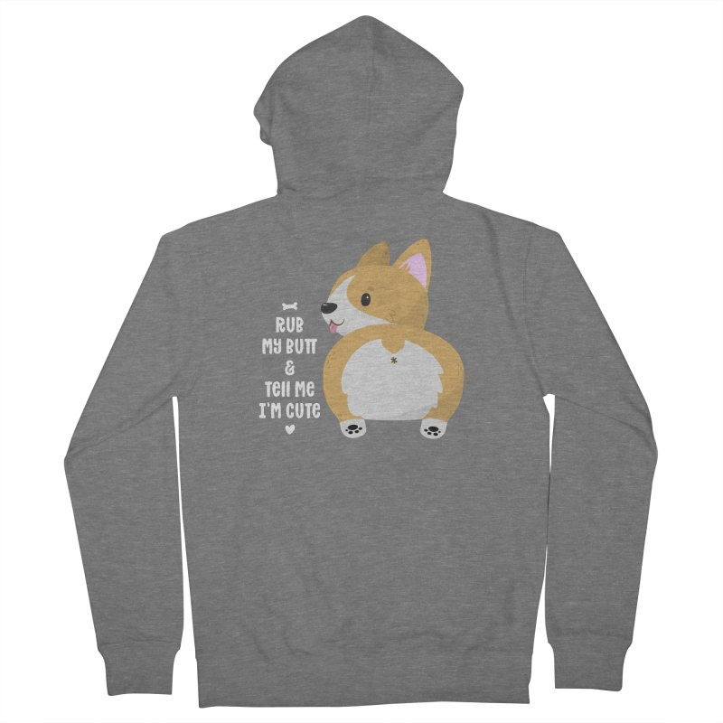 Rub My Butt Men's Zip-Up Hoody by FunUsual Suspects T-shirt Shop