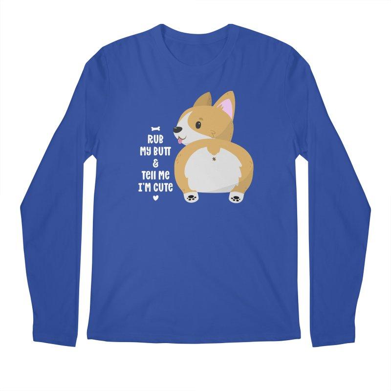 Rub My Butt Men's Longsleeve T-Shirt by FunUsual Suspects T-shirt Shop