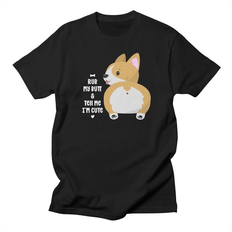Rub My Butt Women's Regular Unisex T-Shirt by FunUsual Suspects T-shirt Shop