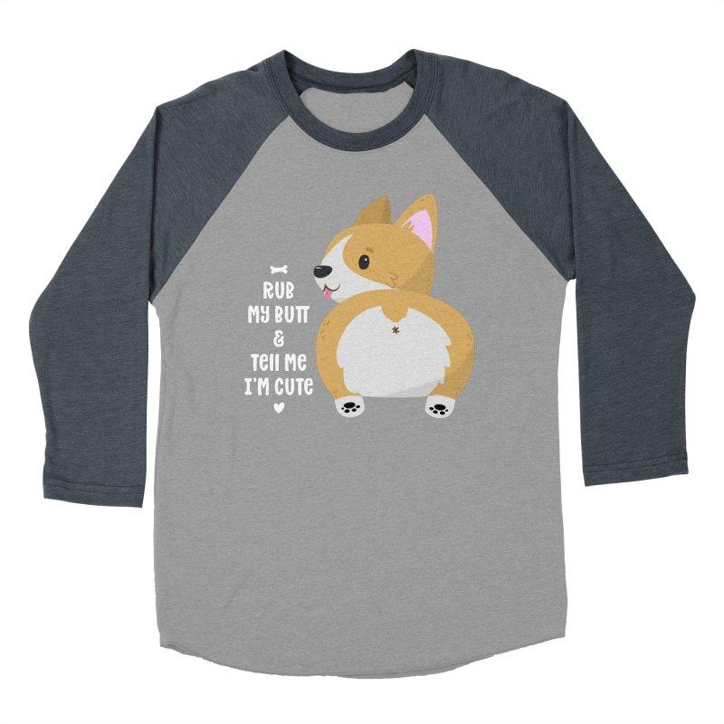 Rub My Butt Women's Baseball Triblend Longsleeve T-Shirt by FunUsual Suspects T-shirt Shop