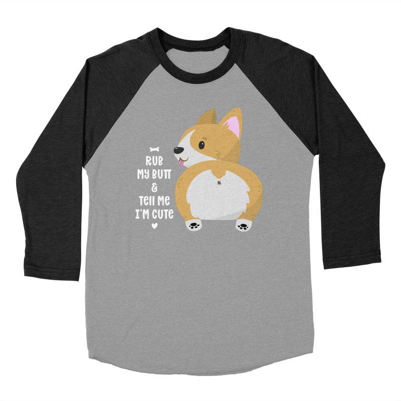 Rub My Butt Men's Baseball Triblend Longsleeve T-Shirt by FunUsual Suspects T-shirt Shop