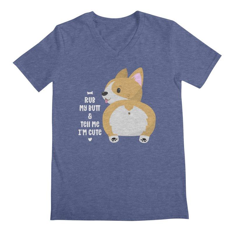 Rub My Butt Men's V-Neck by FunUsual Suspects T-shirt Shop