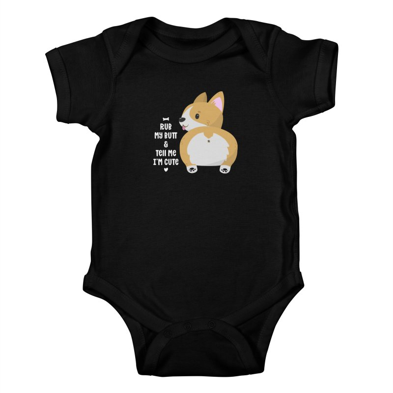 Rub My Butt Kids Baby Bodysuit by FunUsual Suspects T-shirt Shop