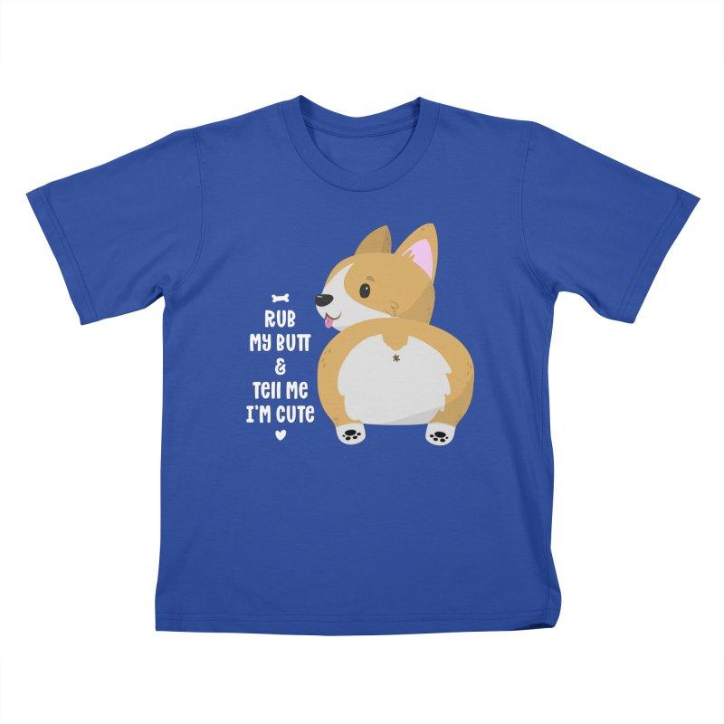 Rub My Butt Kids T-Shirt by FunUsual Suspects T-shirt Shop