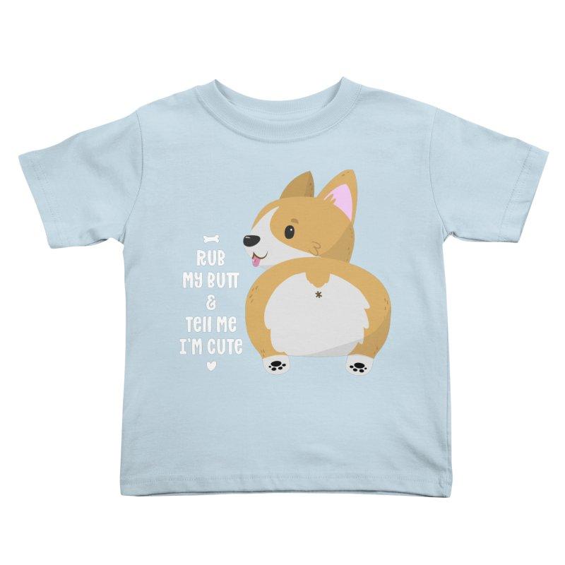 Rub My Butt Kids Toddler T-Shirt by FunUsual Suspects T-shirt Shop