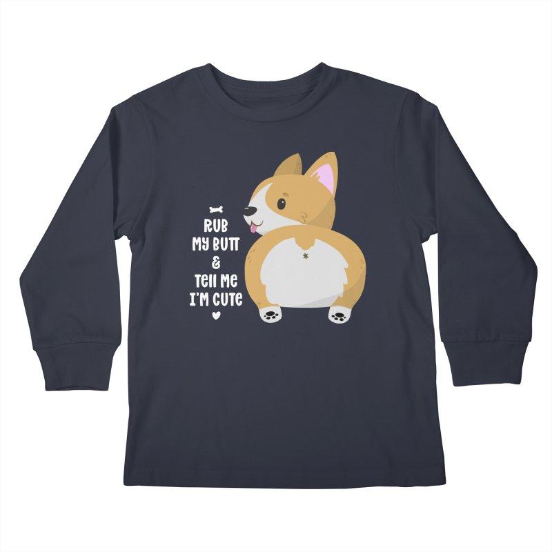 Rub My Butt Kids Longsleeve T-Shirt by FunUsual Suspects T-shirt Shop