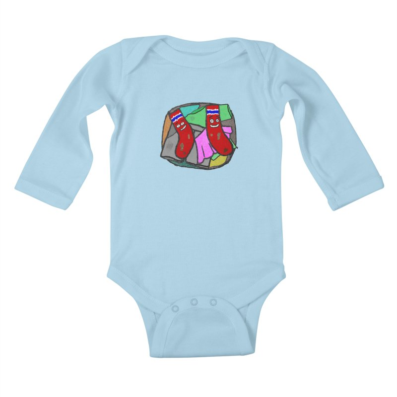 Lefty and Ron Kids Baby Longsleeve Bodysuit by funwithstuff's Artist Shop
