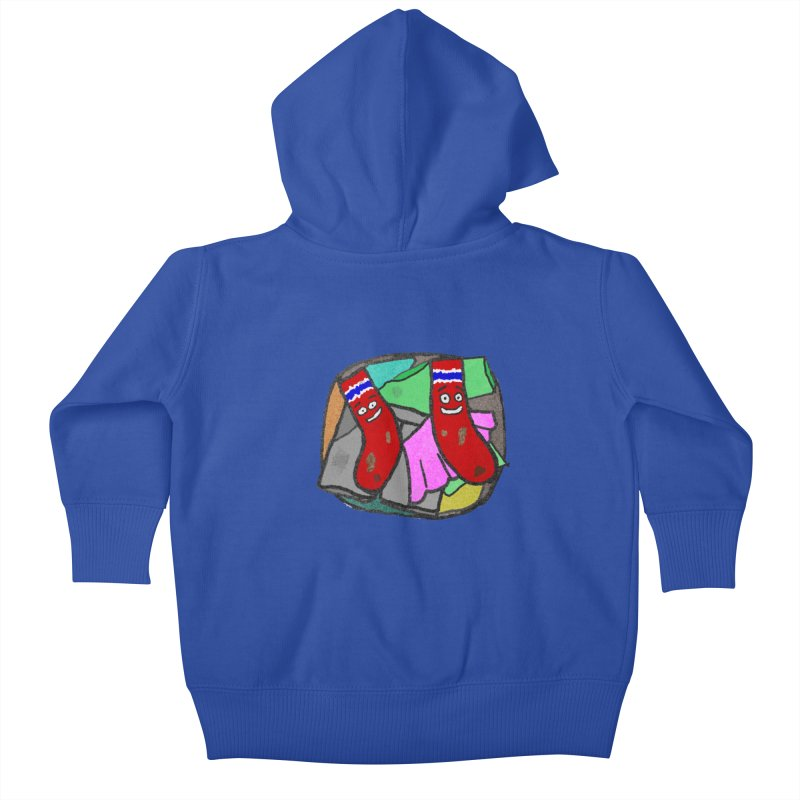 Lefty and Ron Kids Baby Zip-Up Hoody by funwithstuff's Artist Shop