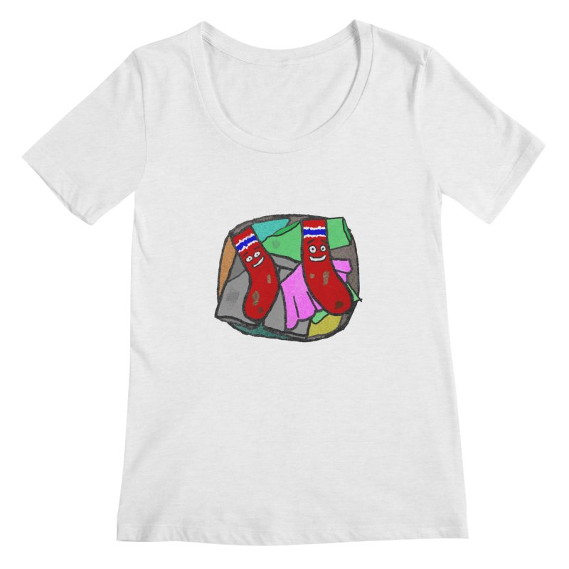 Lefty and Ron Women's Scoopneck by funwithstuff's Artist Shop