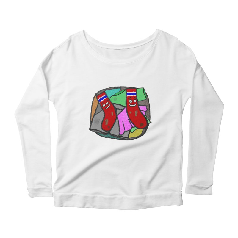 Lefty and Ron Women's Longsleeve Scoopneck  by funwithstuff's Artist Shop