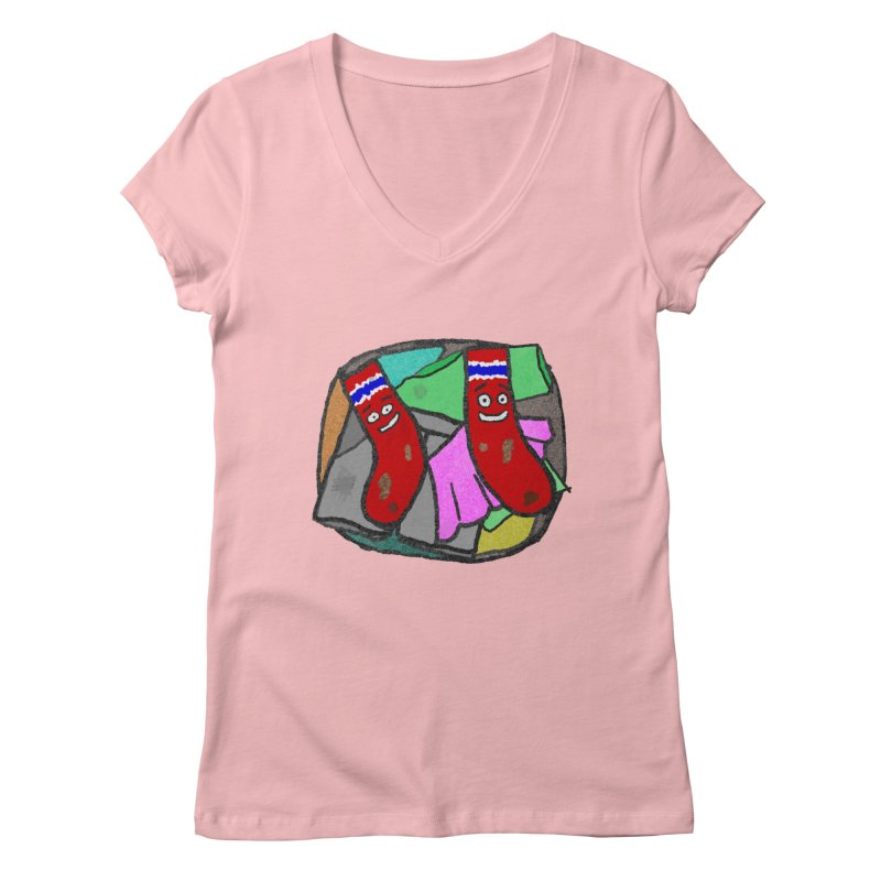 Lefty and Ron Women's V-Neck by funwithstuff's Artist Shop