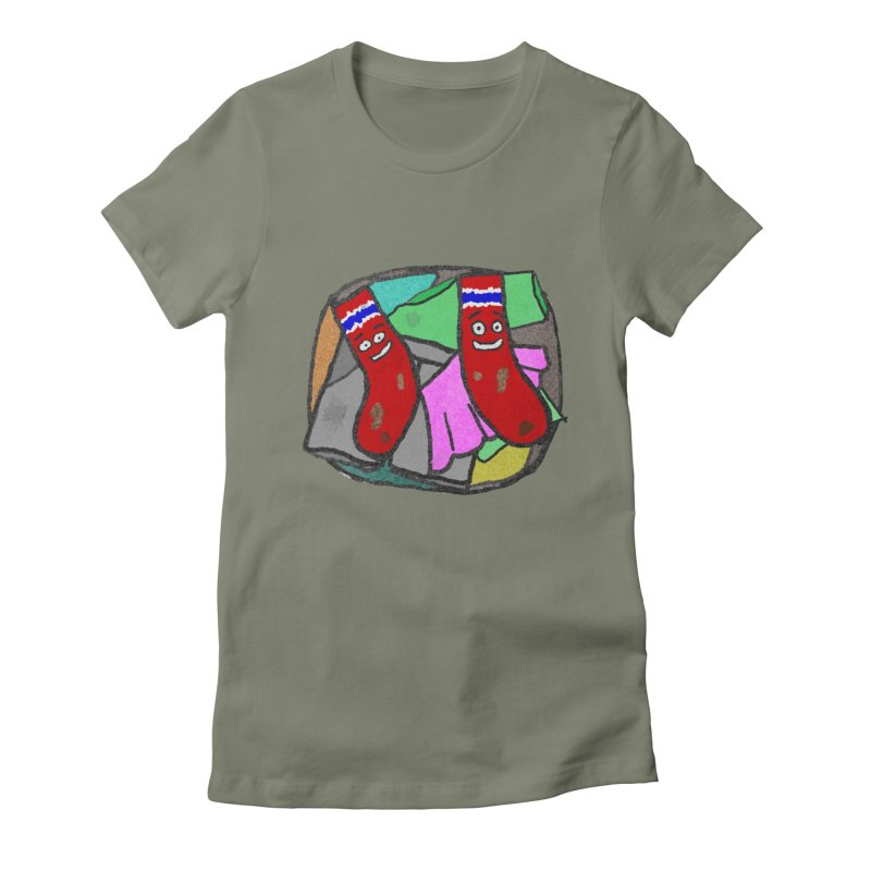Lefty and Ron Women's Fitted T-Shirt by funwithstuff's Artist Shop