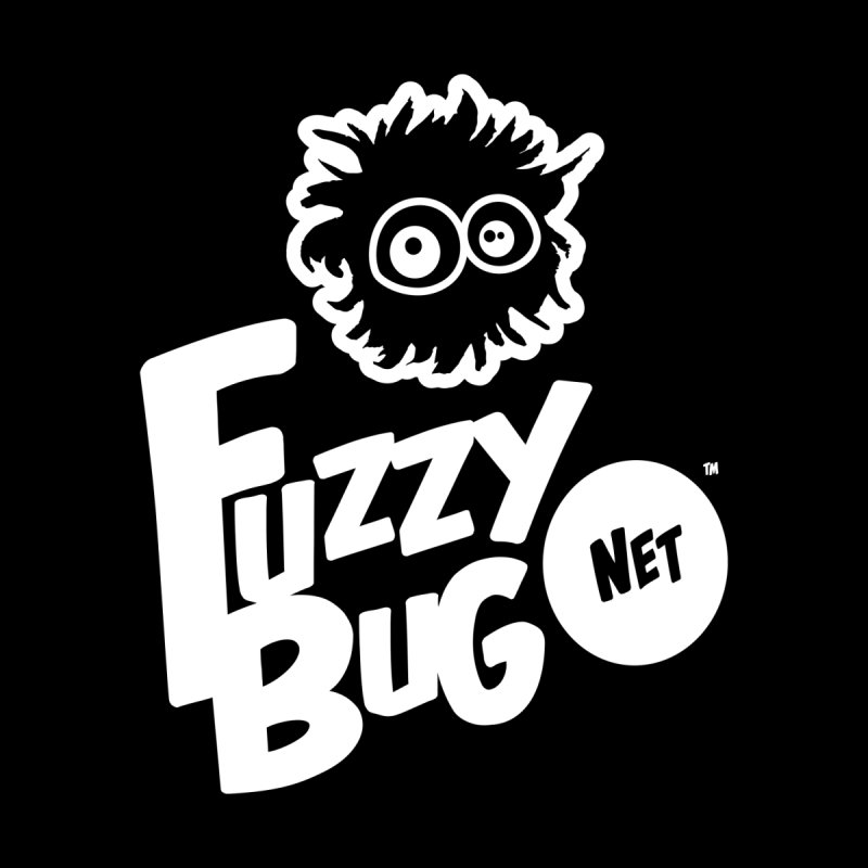 FUZZYBUG.NET (logo, white) Women's T-Shirt by fuzzybug's Artist Shop