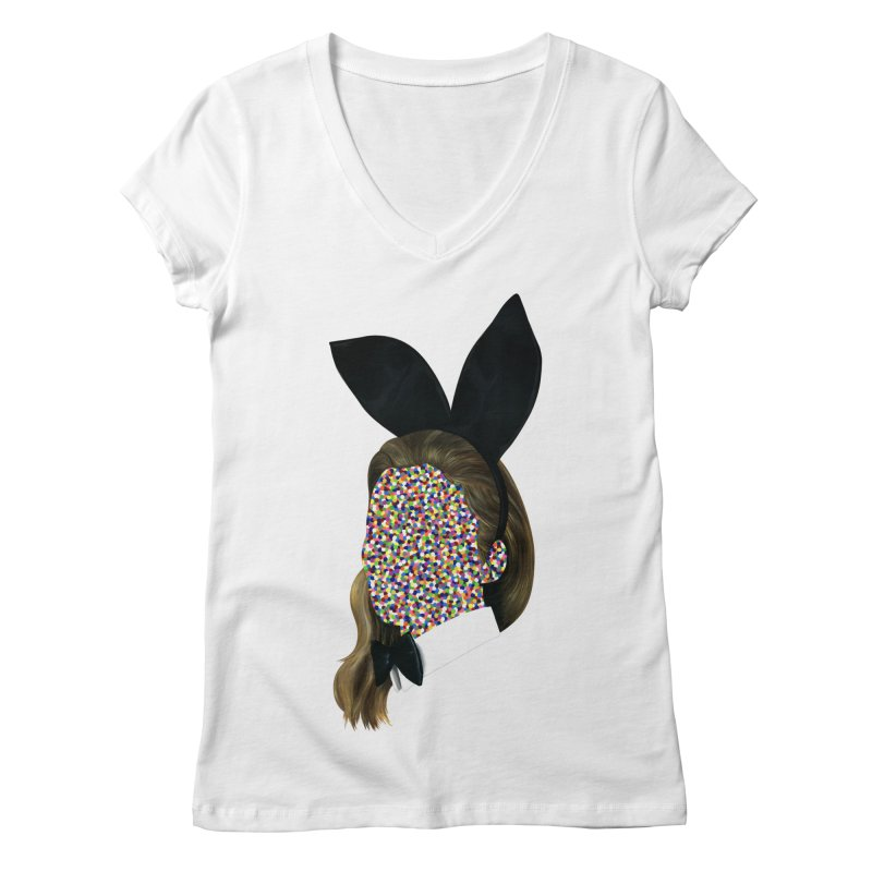 Playboy Bunny Girl Women's V-Neck by Famous When Dead's Shop