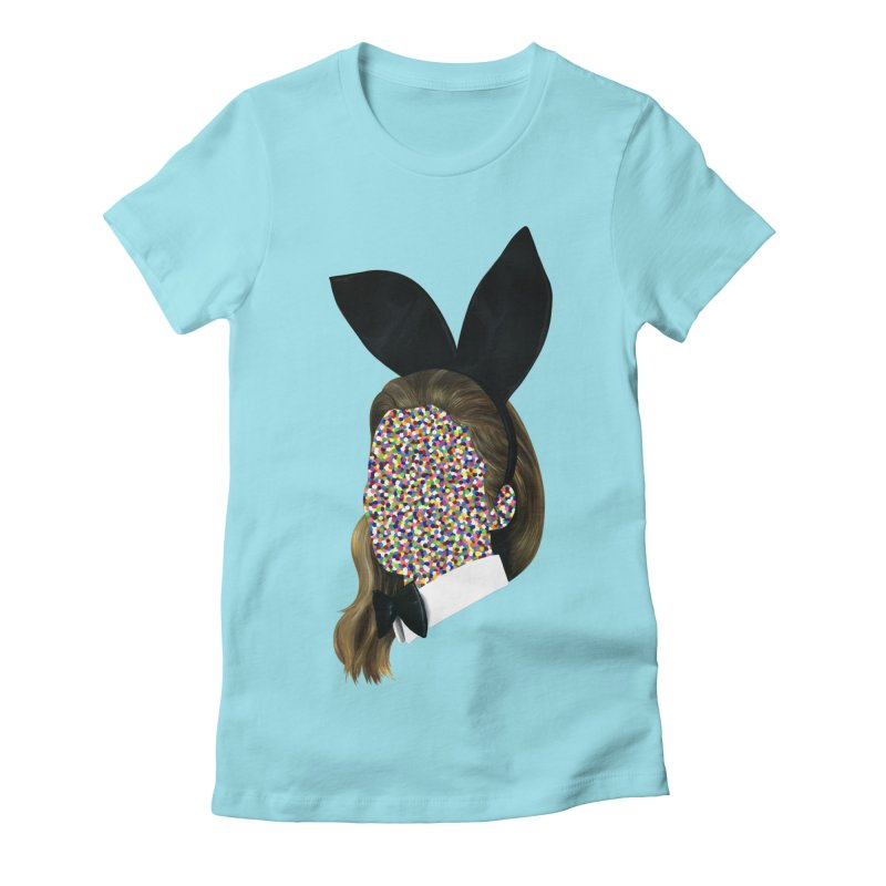 Playboy Bunny Girl Women's Fitted T-Shirt by Famous When Dead's Shop