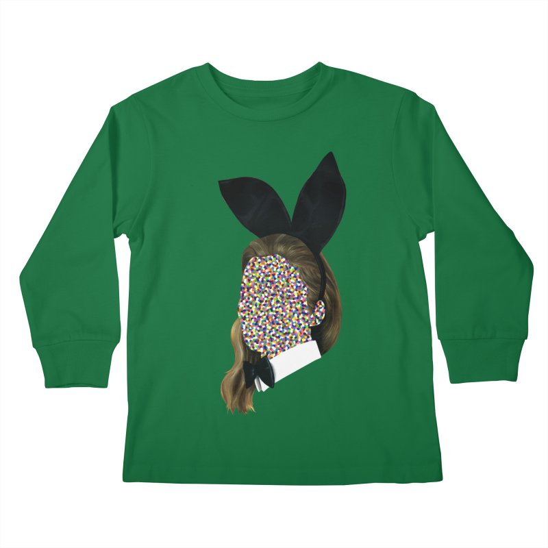 Playboy Bunny Girl Kids Longsleeve T-Shirt by Famous When Dead's Shop