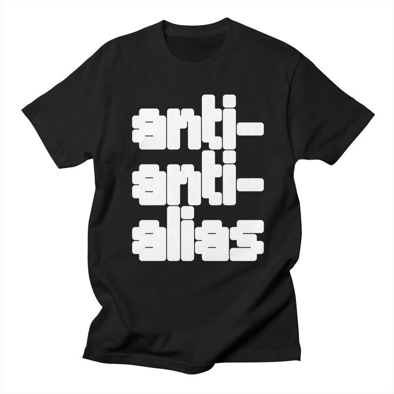 anti-anti-alias in Men's Regular T-Shirt Black by Fwlk