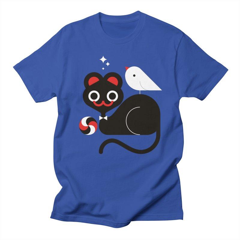 Cat & Bird Men's T-Shirt by Fwlk