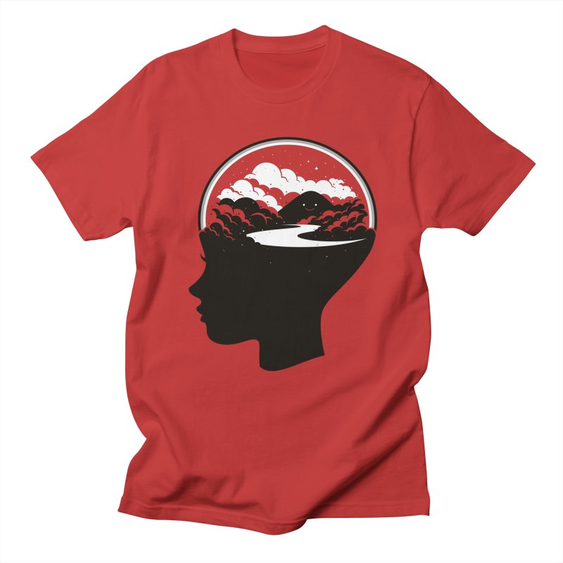 In a happy place in Men's Regular T-Shirt Red by Fwlk