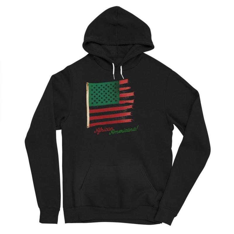 Black Flag Too Men's Sponge Fleece Pullover Hoody by FWMJ's Shop