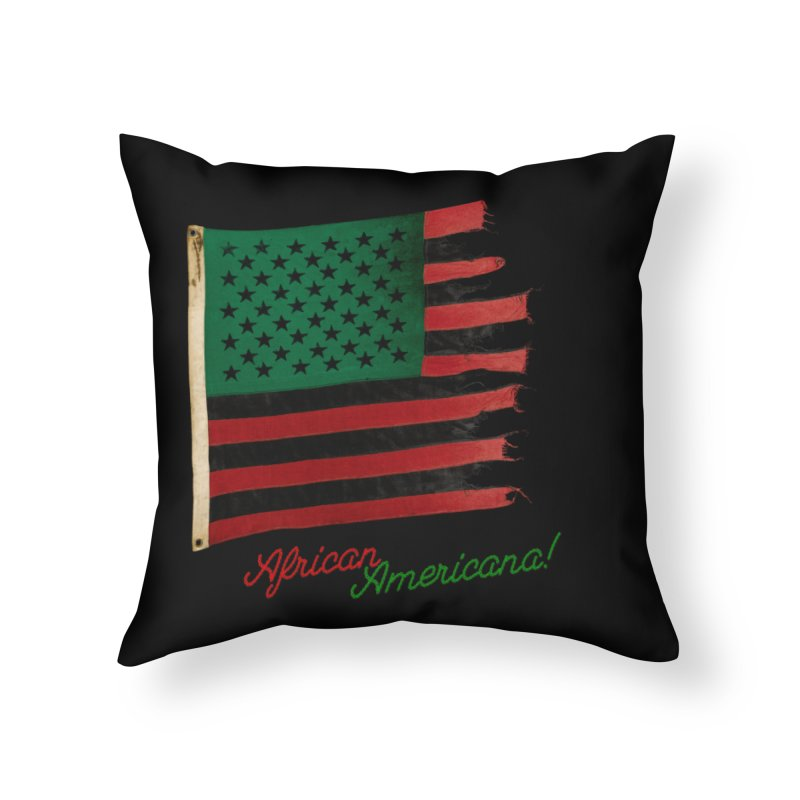 Black Flag Too Home Throw Pillow by FWMJ's Shop