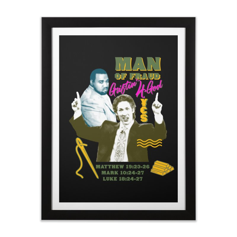 Man of Fraud Home Framed Fine Art Print by FWMJ's Shop