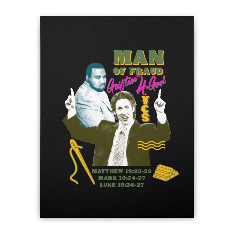 Man of Fraud Home Stretched Canvas by FWMJ's Shop