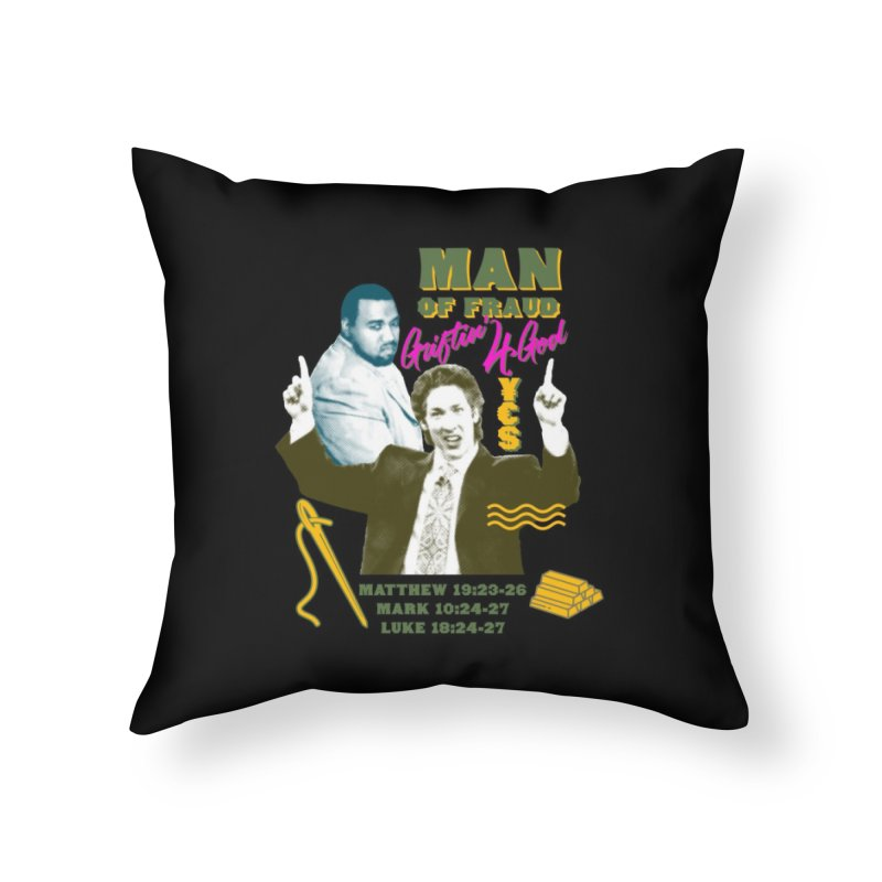 Man of Fraud Home Throw Pillow by FWMJ's Shop