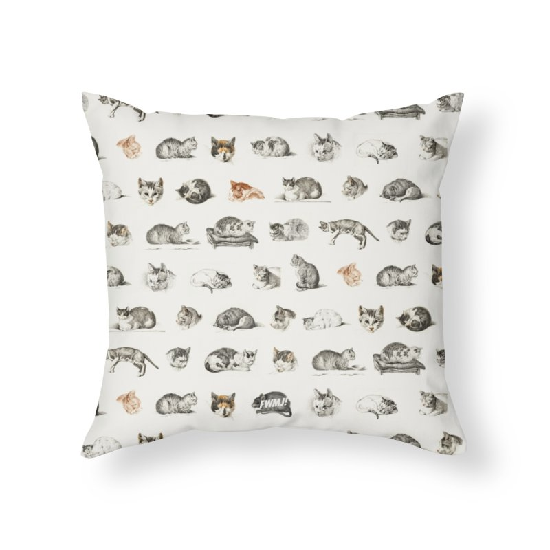 Rap Game Cat Lady № 2 Home Throw Pillow by FWMJ's Shop