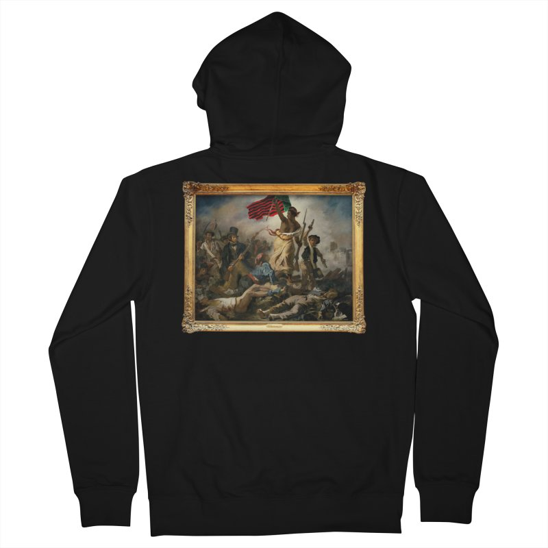 Libération des Noirs Men's French Terry Zip-Up Hoody by FWMJ's Shop