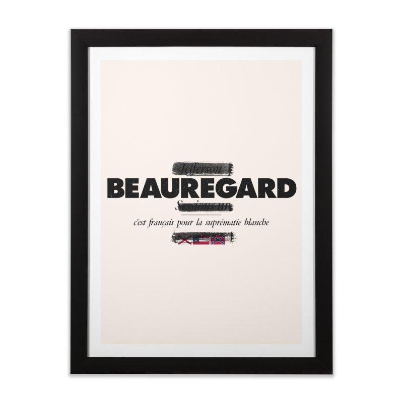 Beauregard in Framed Fine Art Print Black by FWMJ's Shop