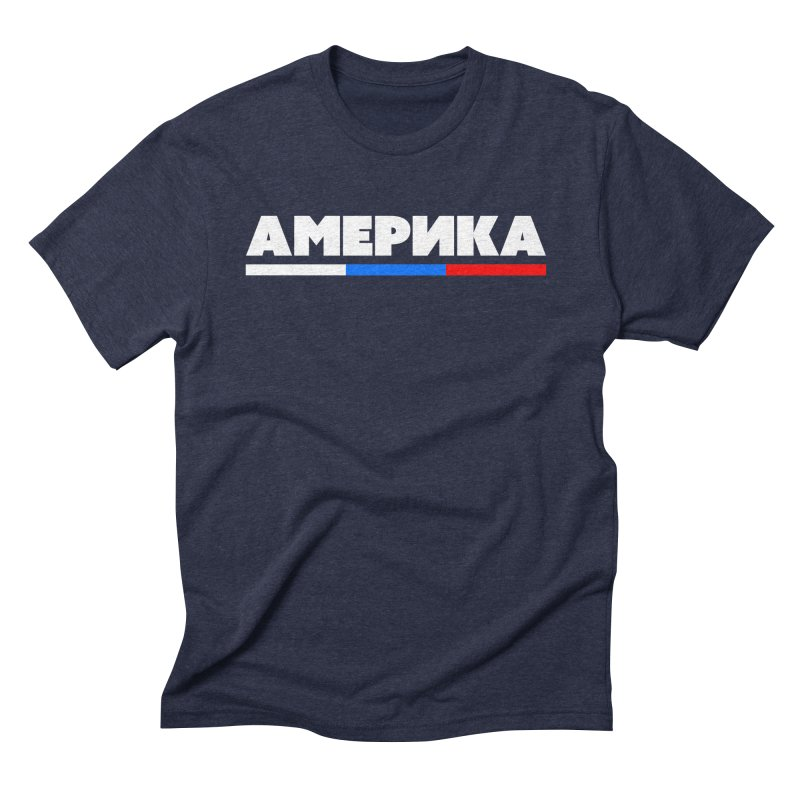 Америка in Men's Triblend T-shirt Navy by FWMJ's Shop