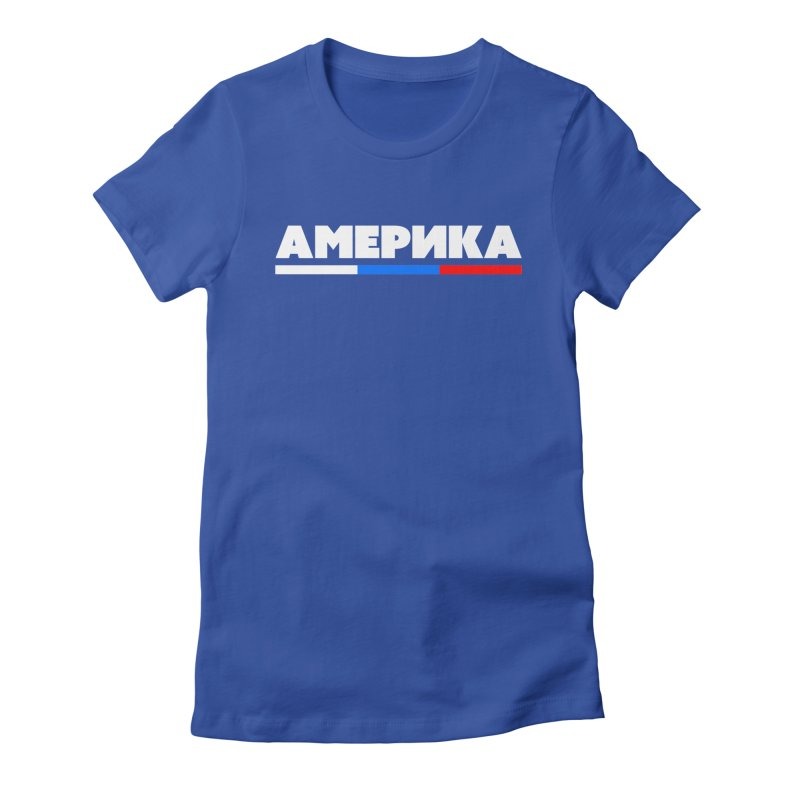 Америка Women's Fitted T-Shirt by FWMJ's Shop
