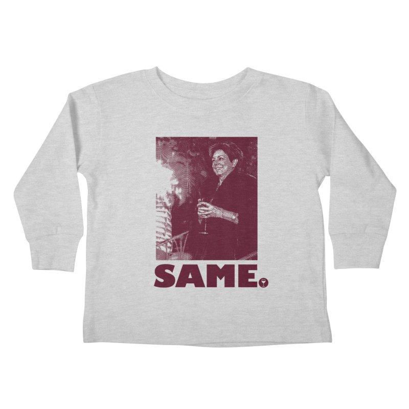 SAME. (Petty Boop) Kids Toddler Longsleeve T-Shirt by FWMJ's Shop