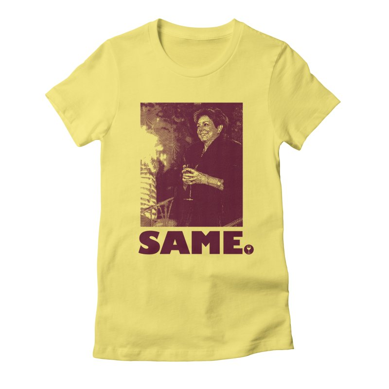 SAME. (Petty Boop) Women's Fitted T-Shirt by FWMJ's Shop