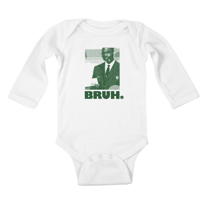 BRUH. Kids Baby Longsleeve Bodysuit by FWMJ's Shop