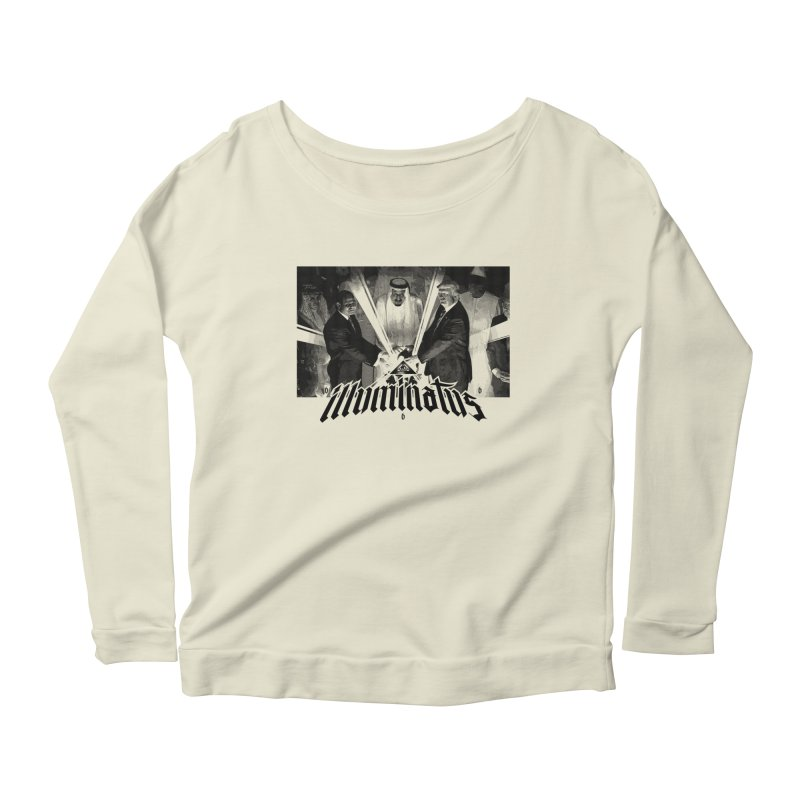 Illuminati Globalist Elite Women's Longsleeve Scoopneck  by FWMJ's Shop