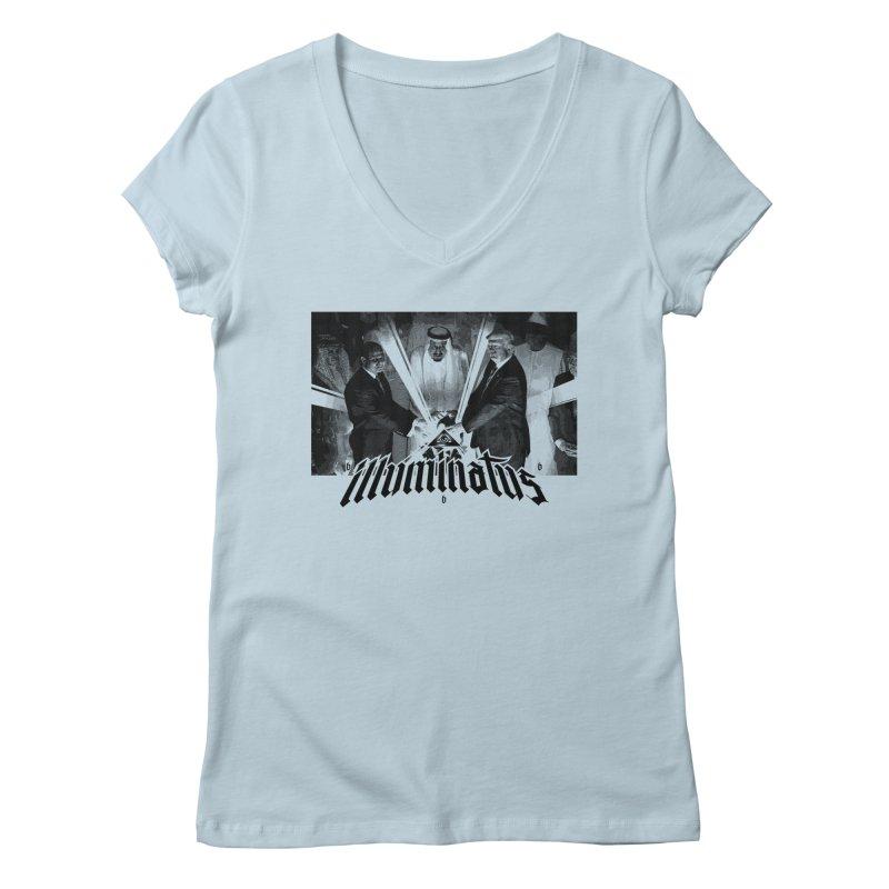Illuminati Globalist Elite Women's V-Neck by FWMJ's Shop