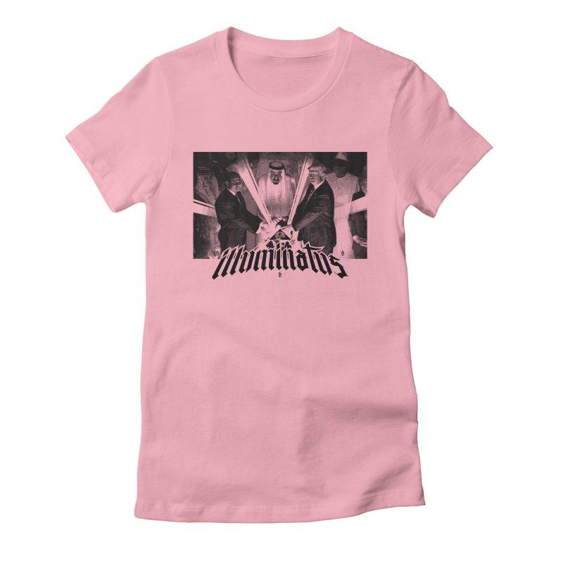 Illuminati Globalist Elite Women's Fitted T-Shirt by FWMJ's Shop