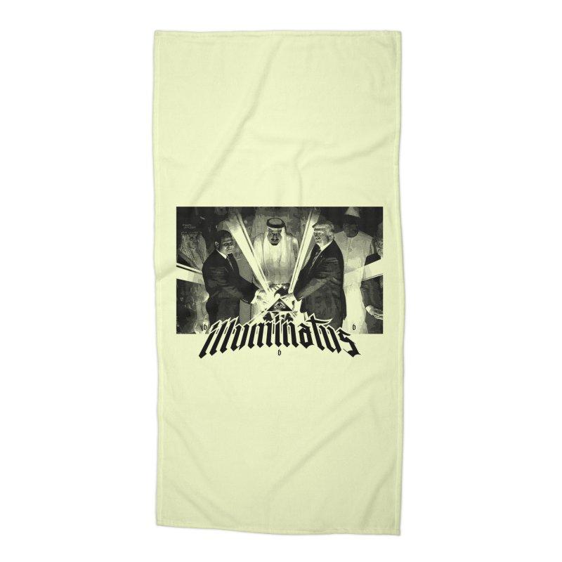 Illuminati Globalist Elite Accessories Beach Towel by FWMJ's Shop